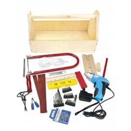 Sada nářadí Leomark s dřevěnou krabicí na nářadí - 47 kusů