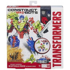 Hasbro Transformers 4 Construct Bots Optimus Prime a Gnaw Dino