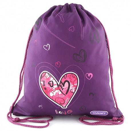 Love - sportovní vak značky Target, barva fialová.